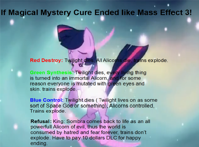 If Magical Mystery Cure Ended like Mass Effect 3