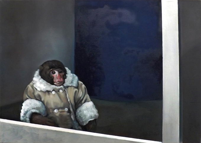 IKEA Monkey - oil on canvas (40x60)
