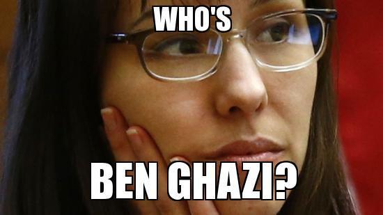Jodia Arias who's Ben Ghazi?