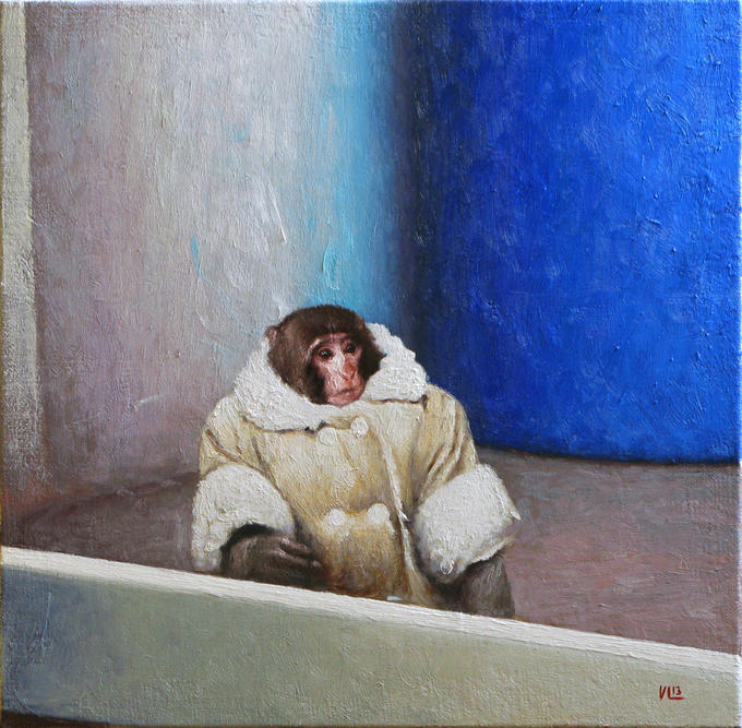 IKEA Monkey 2013, 35cm x 35cm, oil on canvas