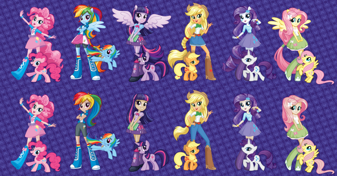 /mlp/'s EQ Girls redesign project: WIP