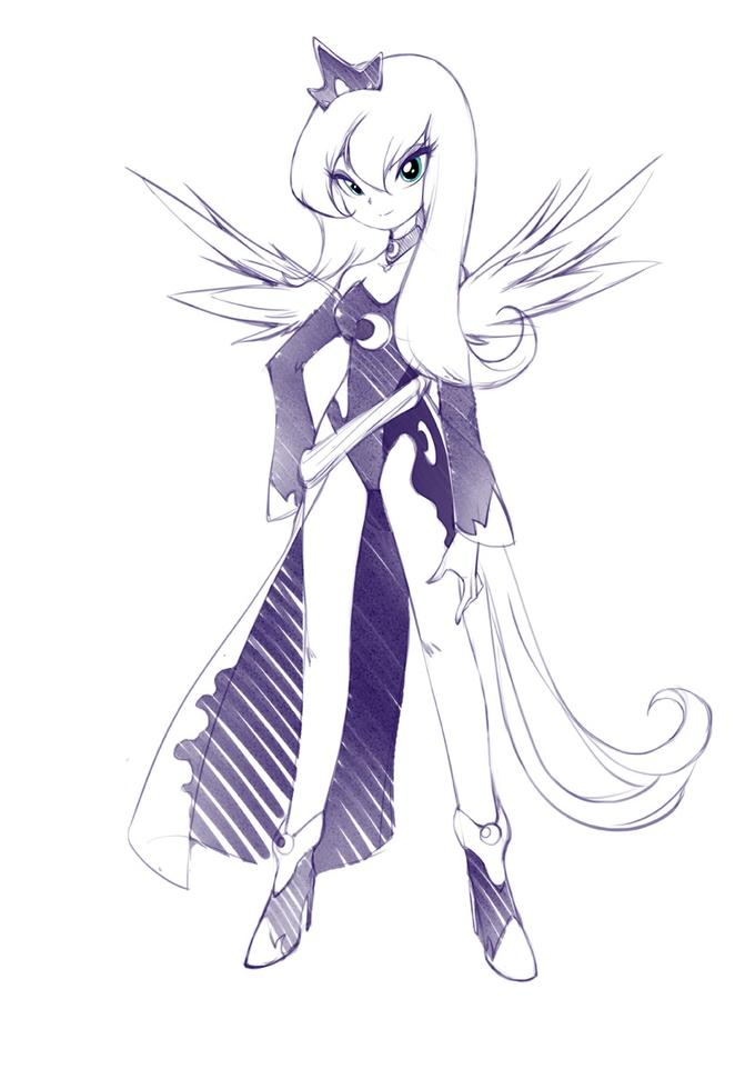 Humanized Princess Luna by jorama