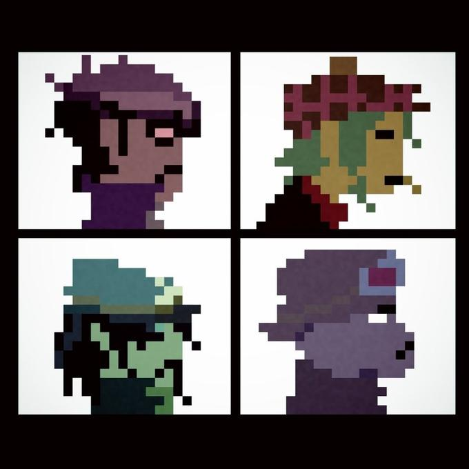 Gorillaz Demon Days 8 bit Album Cover