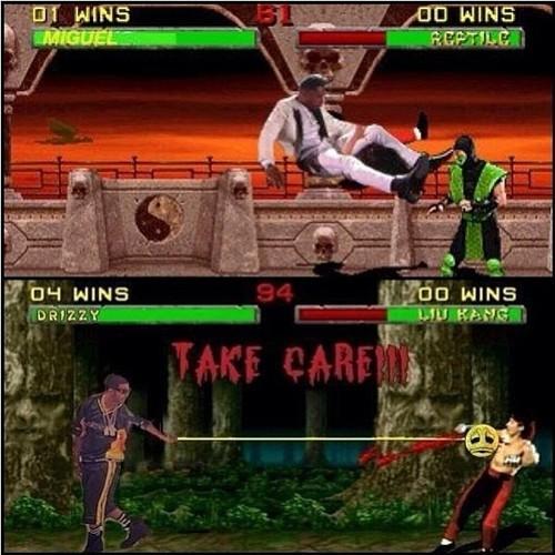 Miguel and Drake in Mortal Kombat