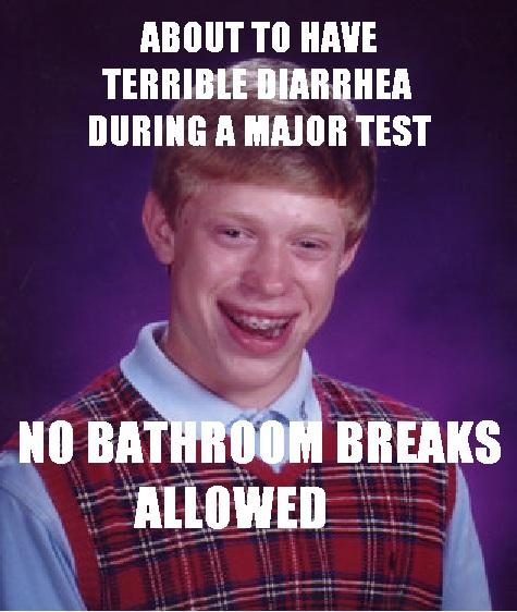 Bad Luck Brian Takes Test