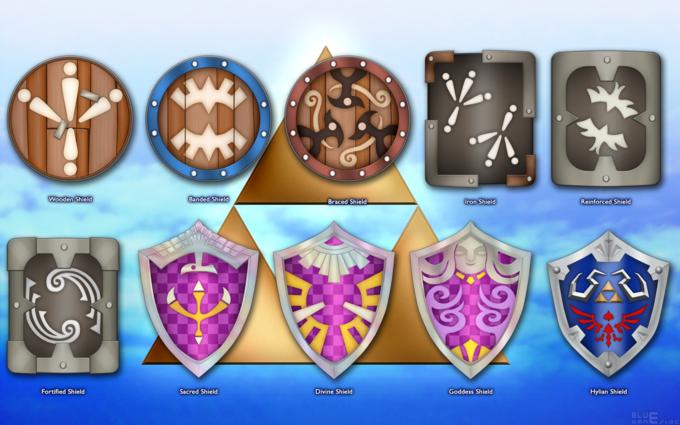 Shields of Skyward Sword