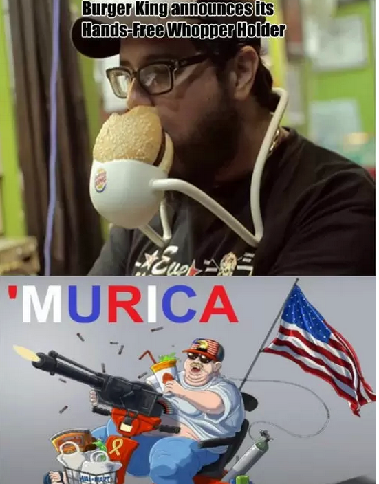 Hands Free Burger Holder Murica Know Your Meme