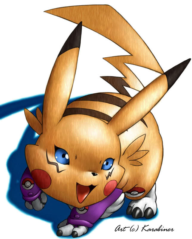 Renachu: Pikachu and Renamon's son