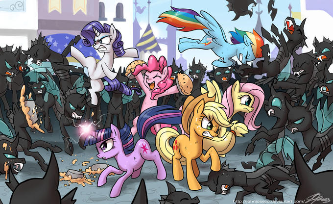 Mane 6 vs The Changelings