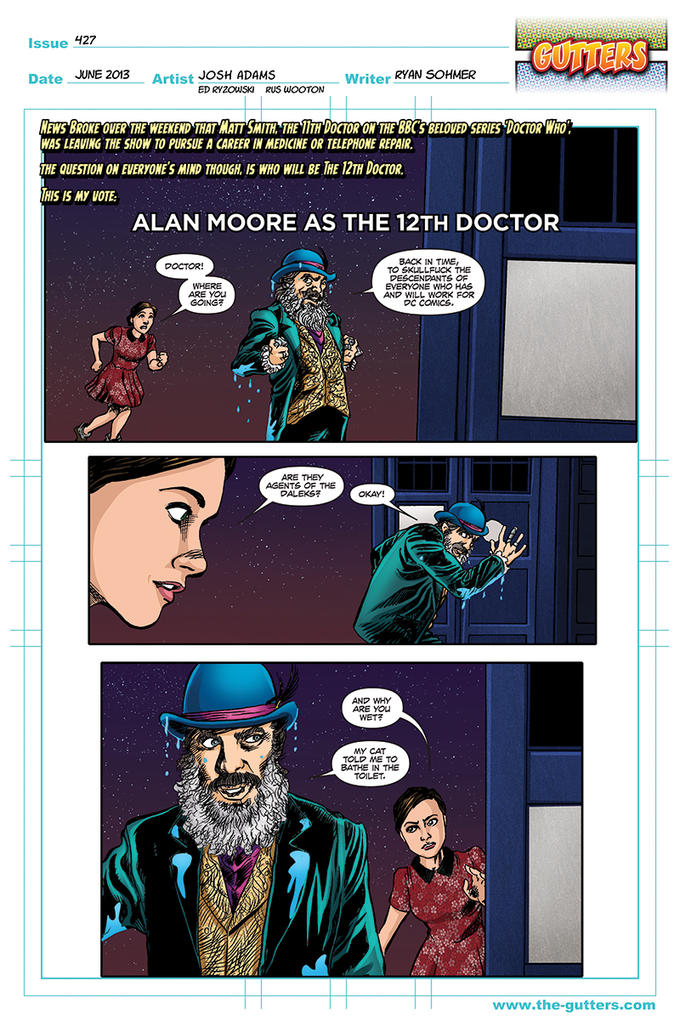 Alan Moore as the 12th Doctor