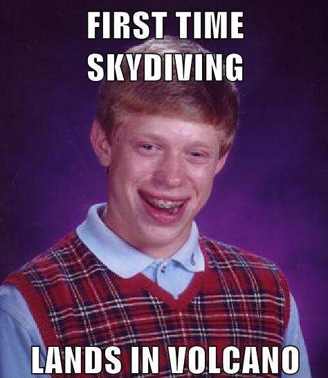 Brian sky dives.