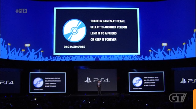 PS4 supports used games and no DRM