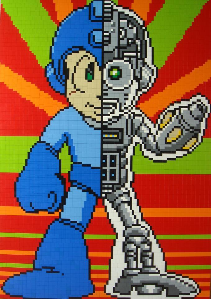 LEGO Mosaic - Robotic MegaMan
