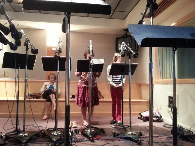 Pictured: Andrea Libman, Tabitha St Germain, Claire Corlett
