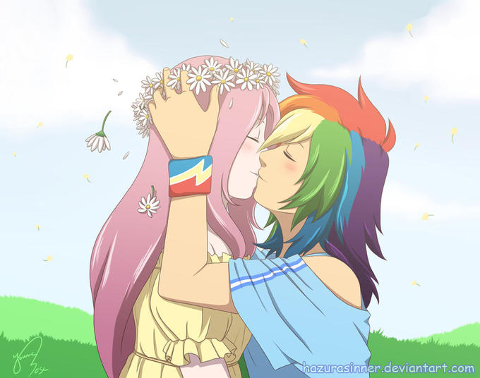 Another Rainbow Dash-Fluttershy lesbian thing
