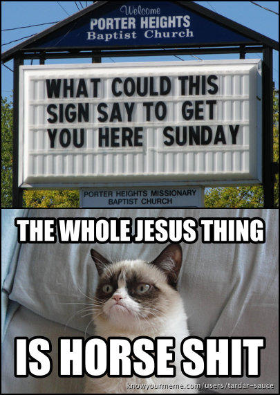 Jesus isn't real, you know...