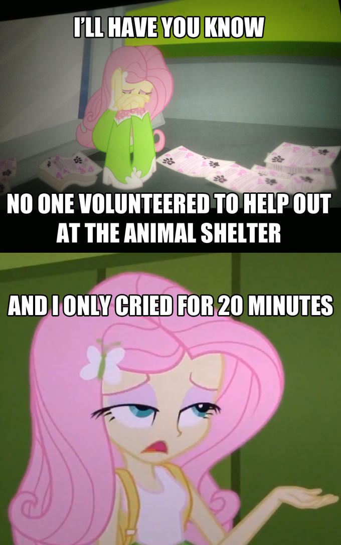 Equestria Girls: Fluttershy tries to get into the Salty Spitoon