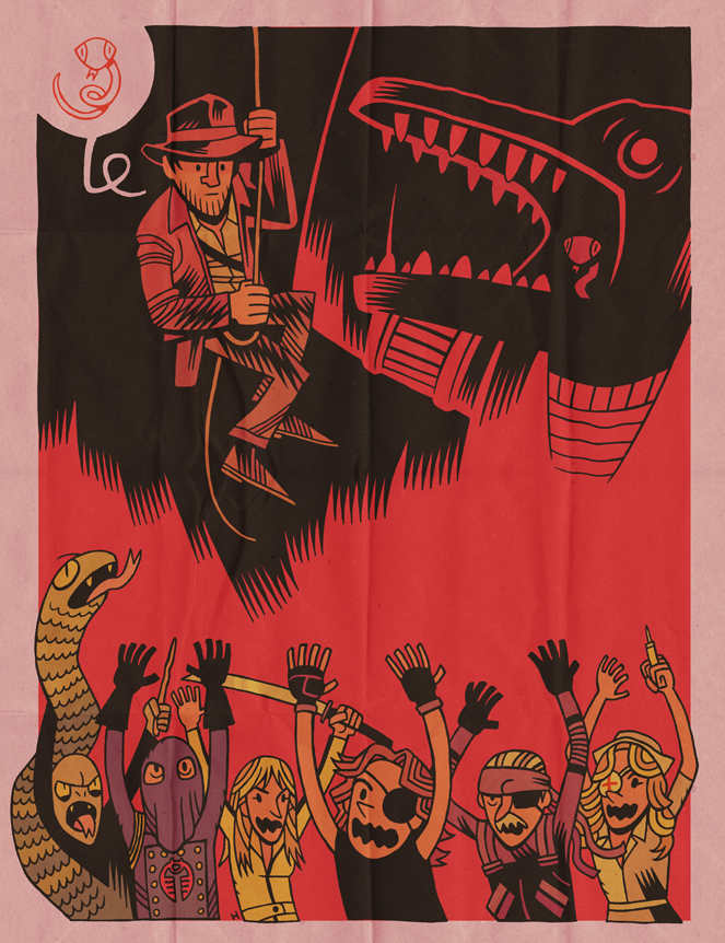 Why did it have to be snakes? by Dan Hipp