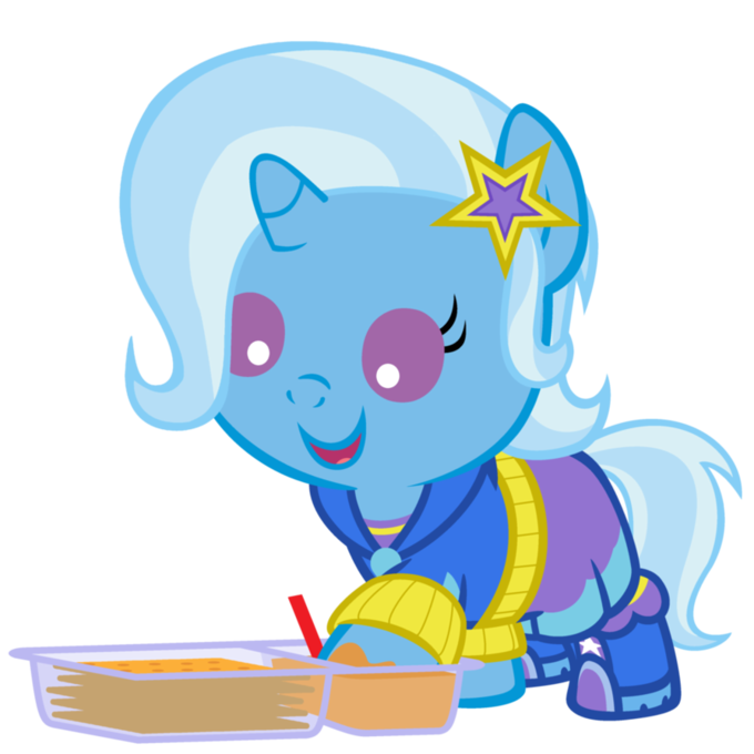 When I asked for pony Trixie in a hood, this isn't what I had in mind.