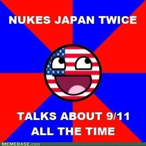 NUKES JAPAN TWICE