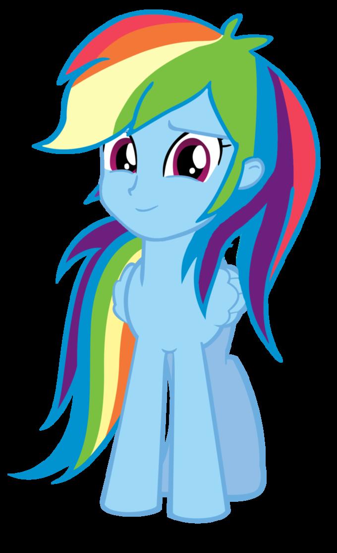 Humanhead Rainbow Dash