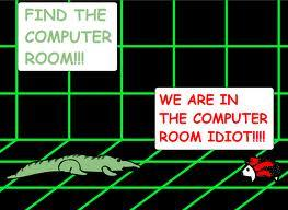Find the Computer Room - Vector and Shadow