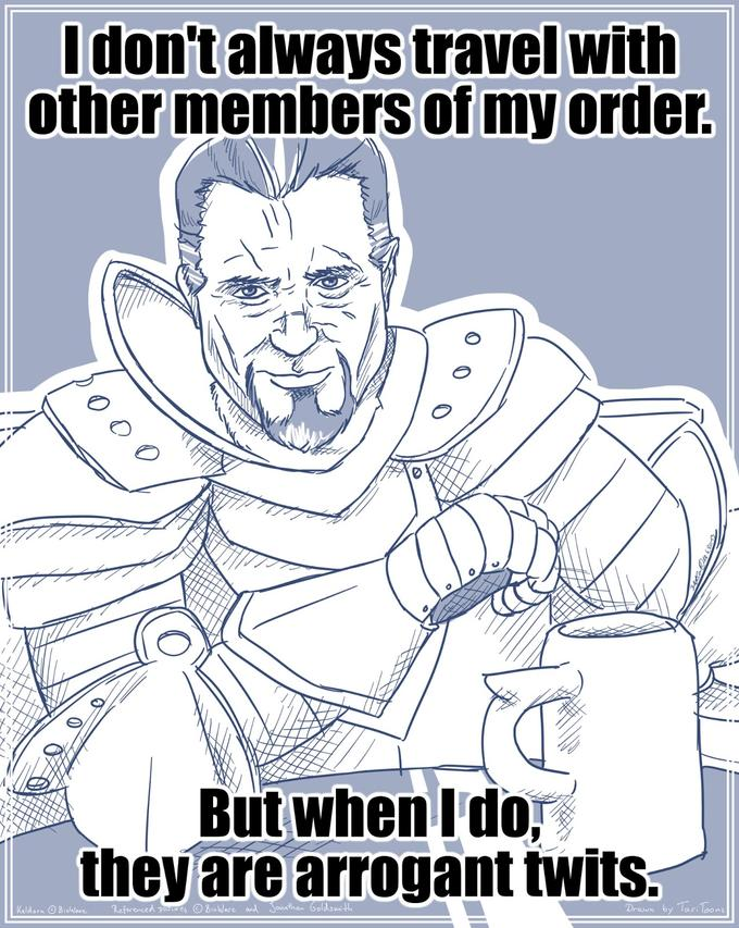 The most interesting Paladin in the World - Other members of my order