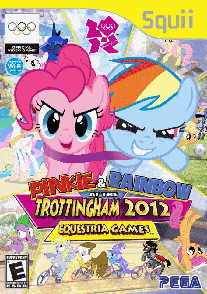 Pinkie Pie and Rainbow Dash at the Trottingham 2012 Equestria Games