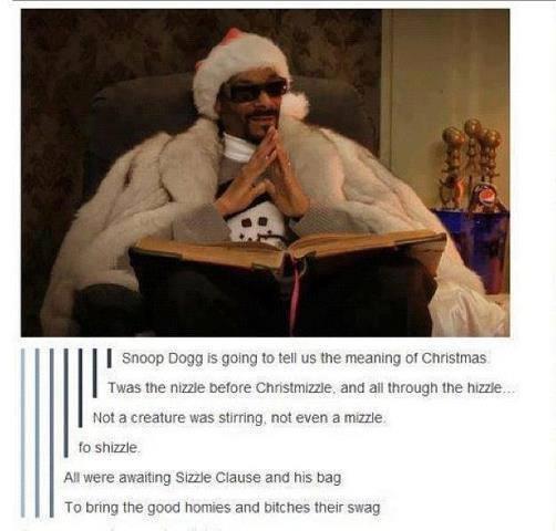 Snoop Dogg tells Christmas like it is
