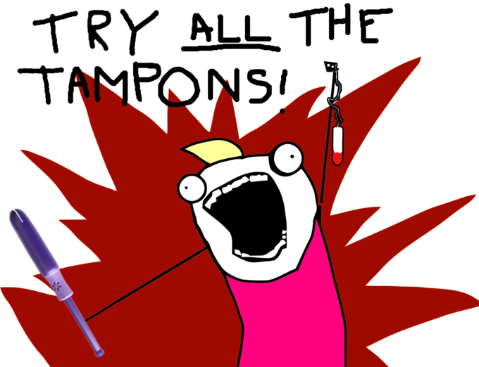 TRY ALL THE TAMPONS
