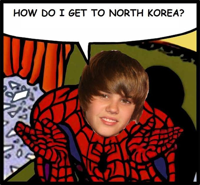 Justin Bieber to North Korea