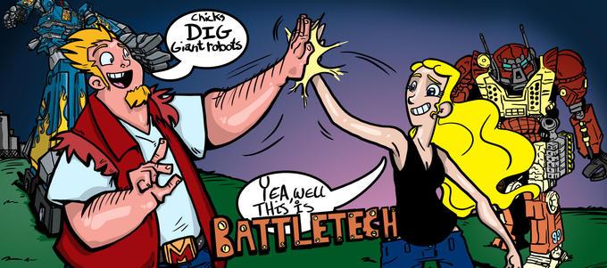 Liz Card: BattleTech by ~Berlin-Poe