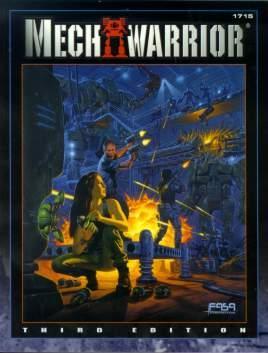 MechWarrior 3rd ed. FanPro Reprint Cover