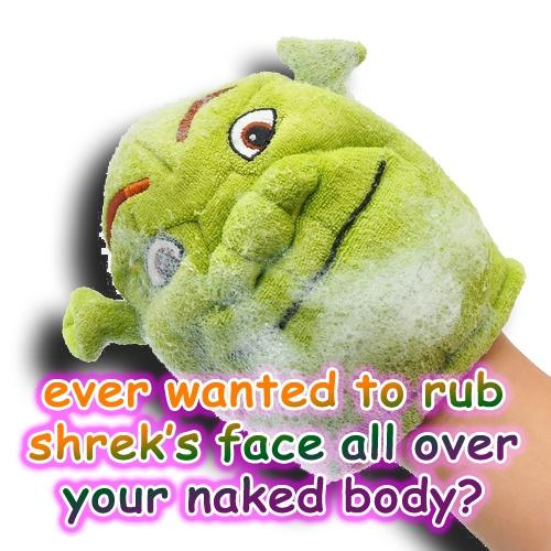 Ever wanted to rub shrek's face all over your naked body?