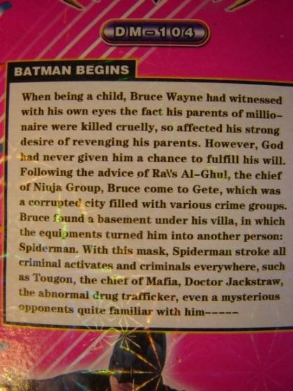The true origin of Batman.