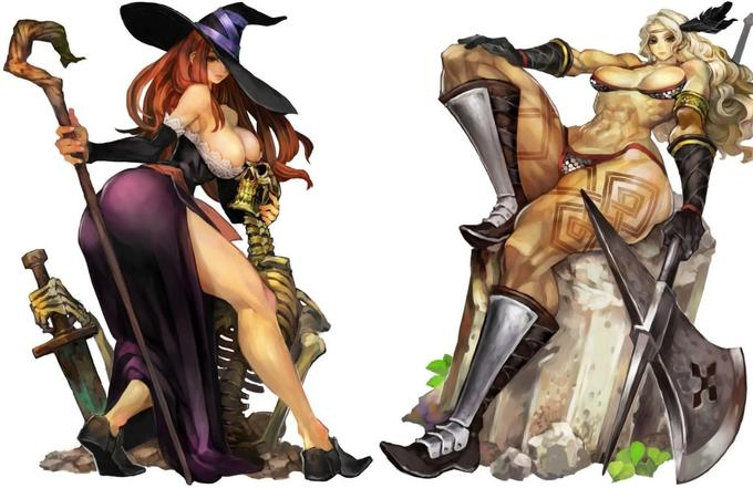 Sorceress And Amazon