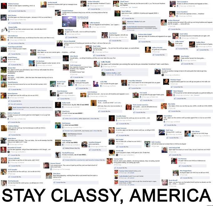 Stay classy, America