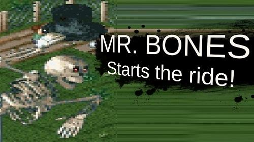 Mr. Bones starts the ride