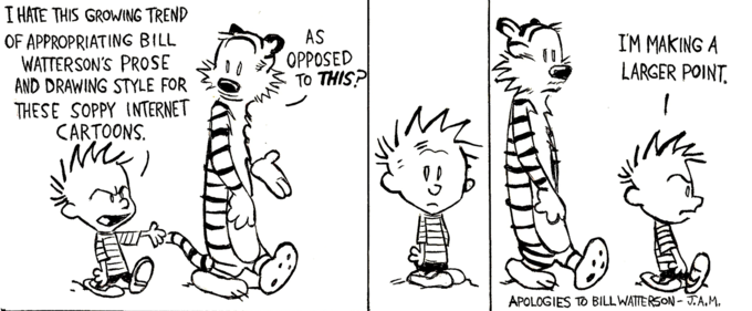 On The Internet and Calvin and Hobbes