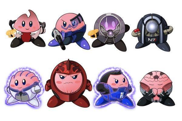 Mass Effect Kirbies