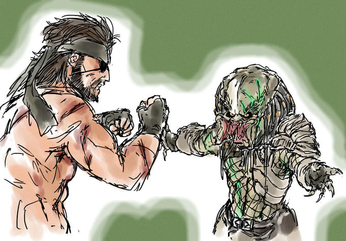 Naked Snake vs. The Predator