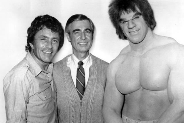 Mister Rogers meets The Hulk