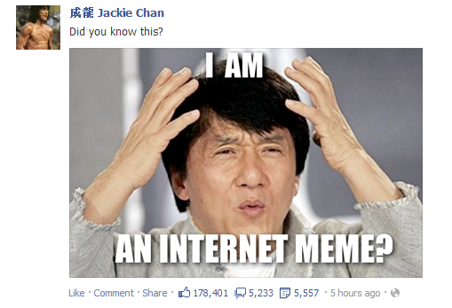 Jackie chan facebook post | My Brain is Full of Fuck ...