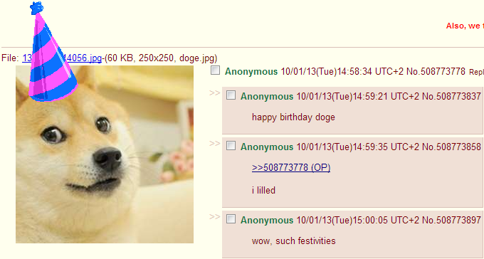 Doge Birthday