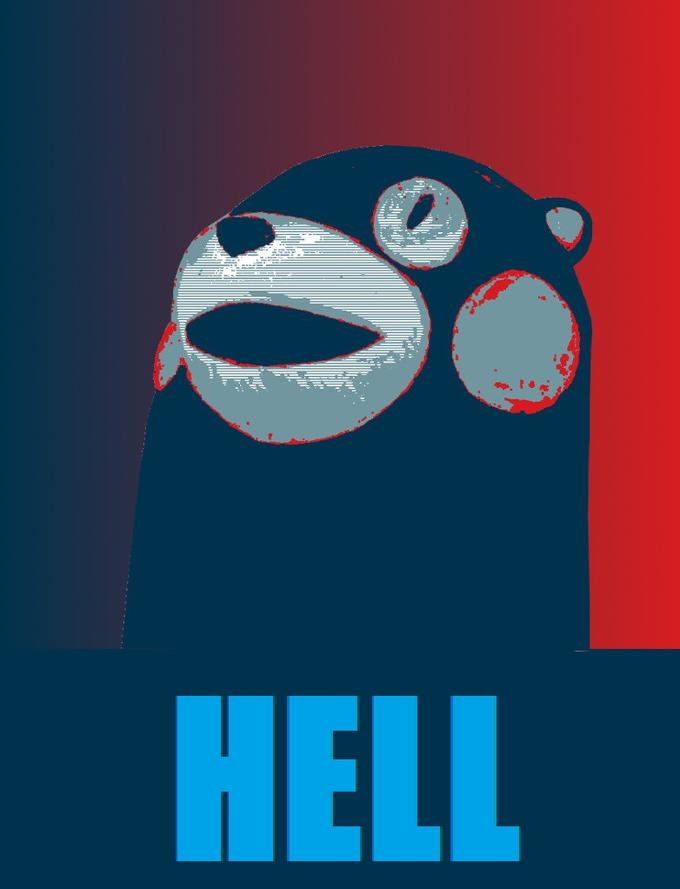 Kumamon - hope poster (made by Detergent)