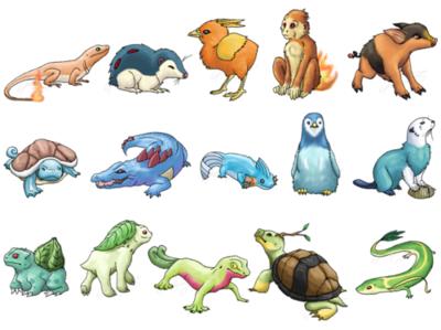 Realistic Starter Pokemon