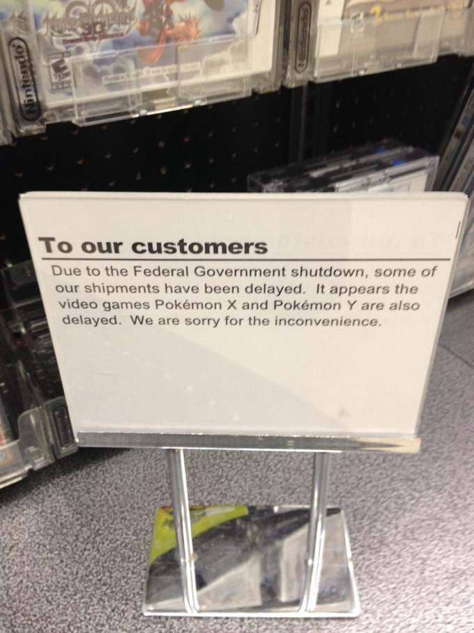 Pokémon is the Latest Casualty of the Government Shutdown