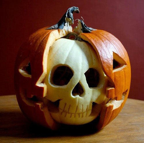 Pumpkin Carved Skull