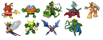 Pokefied Justice League