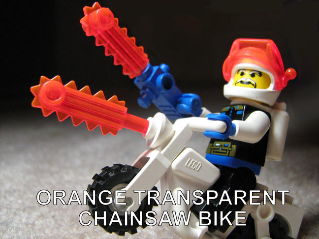 Orange Transparent Chainsaw Bike